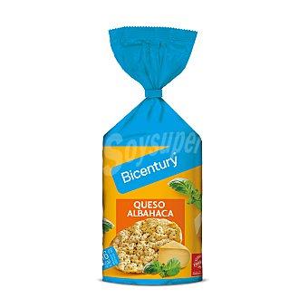 Bicentury Tortitas de maíz sabor a queso y albahaca Paquete 123,5 g