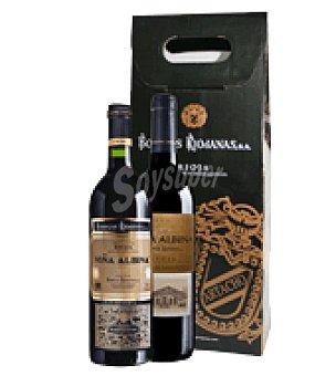 Viña Albina Estuche vino tinto D.O. Rioja: 1 reserva + 1 gran reserva Pack de 2x75 cl