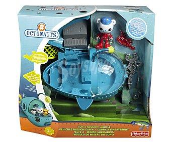 FISHER PRICE Octonautas Conjunto de juego Nave-A Misión submarina de los Octonautas con accesorios y figura, PRICE.