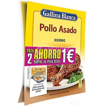 GALLINA BLANCA pollo asado al horno pack 2 sobres 64 g pack 2 64 g