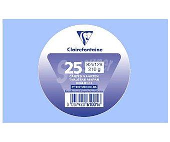 Clairefontaine Tarjetas de visita de tamaño 82 x 128 milímetros, peso de 210 gramos y de color lavanda 25 unidades