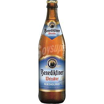 BENEDIKTINER Weissbier Cerveza de trigo sin alcohol  botella de 50 cl
