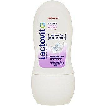Lactovit Desodorante roll-on hidratante piel sensible con sales de calcio y antitranspirantes envase 50 ml con doble de vitaminas y proteínas de la leche Envase 50 ml