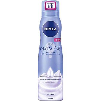 Body Mousse serum de hidratación profunda Manteca de Karité para piel seca spray 200 ml