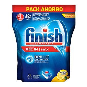 Finish Lavavajillas máquina todo en 1 Limón 75 pastillas