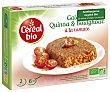 Hamburguesa vegetal bio de quinoa y bulgur con tomate Caja 200 g Cereal Bio