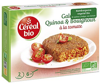 Cereal Bio Hamburguesa vegetal bio de quinoa y bulgur con tomate Caja 200 g
