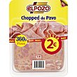 Chopped de pavo 21 lonchas Envase 360 g ElPozo