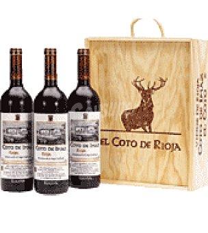 Coto de Imaz Estuche madera con 3 botellas de vino d.o.ca. Rioja 75 cl