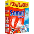Detergente lavavajillas Multi 5 todo en 1 Caja de 52 pastillas Somat