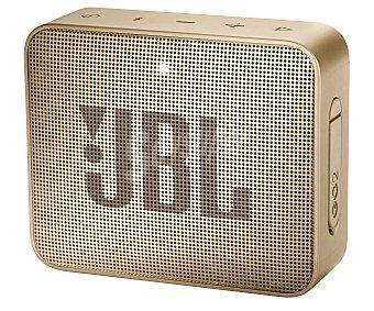 JBL Mini altavoz por batería, potencia 3W, conexión Jack 3.5mm, Bluetooth, micrófono integrado, color champagne Go 2 Champagne