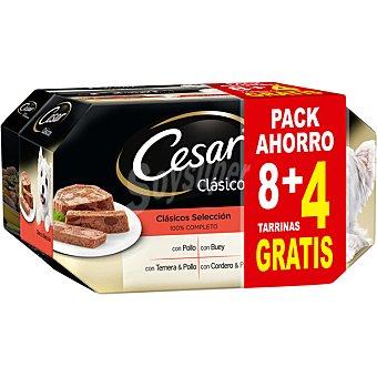 Cesar Selección de clásicos pack promocional 8 tarrinas + 4 gratis envase 150 g envase 150 g