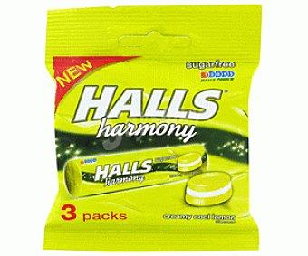 Halls Caramelos harmony sin azúcar limón 84 g