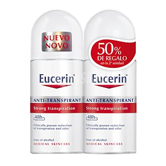 Eucerin Desodorante roll on antitranspirante 48h Pack 2 botes de 50 ml