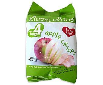 Kiddylicious Láminas de manzana crujiente especiales para niños 4 unidades de 12 g