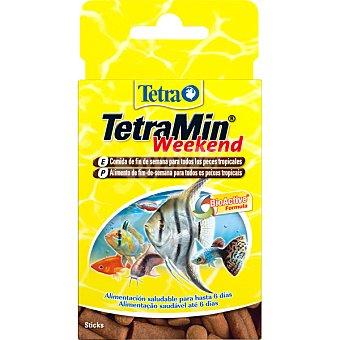 Tetra min weekend Alimento completo para peces en stick envase 20 unidades envase 20 unidades