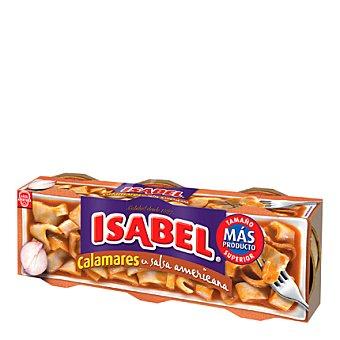 Isabel Calamares en salsa americana 3 latas de 72 g