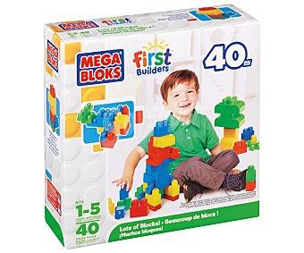 MEGA BLOCKS Incluye 40 Piezas Grandes, Coloridas, de Varias Formas y Tamaños de Gran Calidad 1 Unidad
