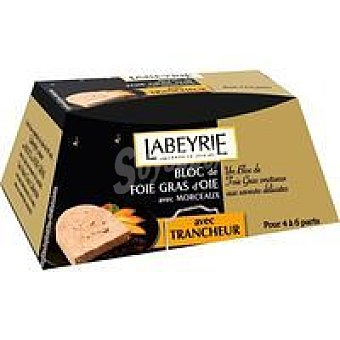 Labeyrie Foie Gras de oca con trozos Tarrina 195 g + Cortador