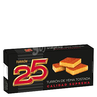 Turrón 25 Turrón de yema tostada 300 g