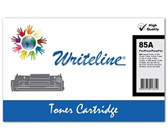 WRITELINE Tóner compatible CE285A, Negro, aprox. 1600 paginas, compatible con impresoras HP: Laserjet P1002, P1003, P1004, P1005, P1006, P1009, P1102, P1102w, P1505, P1505n, P1560 Series, P1566, P1606dn, m1120N, M1132, M1212nf, M1522n, M1522nf, M1536nf, Canon LBP 6000
