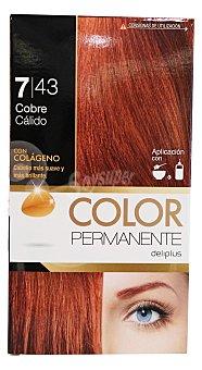 COLOR PERMANENTE Tinte coloración permanente Nº 7,43 cobre cálido (contiene colágeno para hidratar) 1 unidad