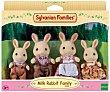 Conjunto de 4 minimuñecos, Familia de Conejos Blancos, FAMILIES. Sylvanian Families