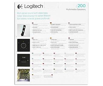 LOGITECH Z200, Altavoces 2.0 Potencia 10w (rms), Control de Volumen, Control de Graves,