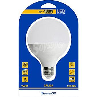 SEVENON 16 W (100 W) lampara LED globo mate luz calida casquillo E27