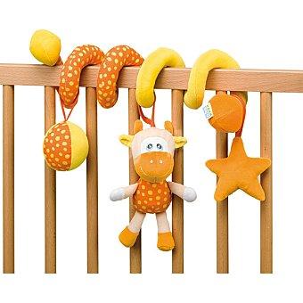 SARO Espiral para cuna con peluche y estrella en tonos naranjas 1 Unidad