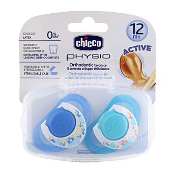 Chicco Chupete physio caucho azul + 12 meses 1 ud