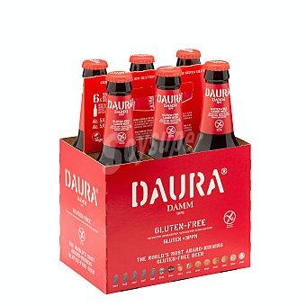 Daura Damm Cerveza rubia sin gluten Pack 6 botellines x 33 cl - 1,98 l