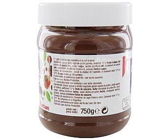 Auchan Crema de cacao con avellanas y leche desnatada 750 gramos