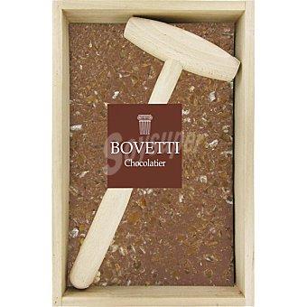 Bovetti chocolate al 38% con leche caramelo y sal en caja y con martillo de madera caja  350 g