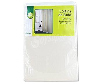 Productos Económicos Alcampo Cortina de baño lisa color beige de Pvc, 135x180 centímetros 1 Unidad