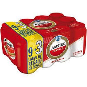 AMSTEL Cerveza pack 9+3x37,5 cl
