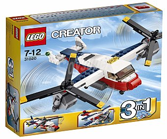 LEGO Juego de Construcciones Creator, Aventuras en Bimotor 3 en 1, Modelo 31020 1 Unidad