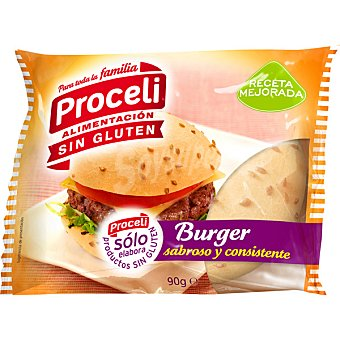 Proceli pan de hamburguesas sin gluten envase 90 g 1 unidad