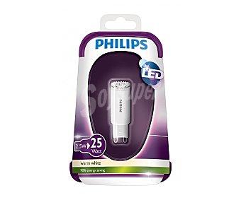 Philips Bombilla led cápsula de 2.5W, con casquillo G9 y luz cálida philips.