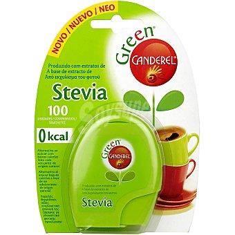 CANDEREL GREEN Edulcorante stevia de origen natural bajo en calorías Dosificador 100 comprimidos