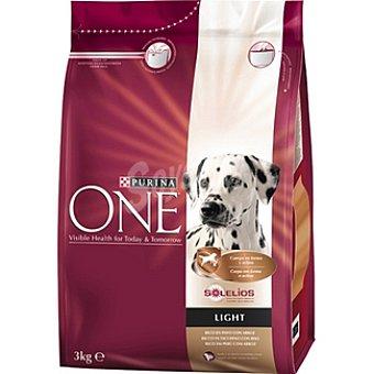 One Purina Alimento para perro de ingredientes de alta calidad con pavo bajo en grasa Light Paquete 3 kg
