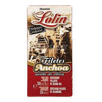 Conservas Lolin Lolin anchoa en aceite de oliva serie roja 29 g