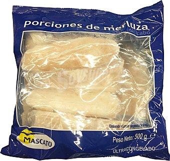 Mascato Merluza congelada porciones Paquete 500 g