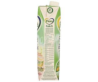 Flora Pascual Preparado Lácteo Semi Desnatado con ácido Fólico y Vitaminas B6, B12 + Vitaminas A, D, E Pack de 4x1L