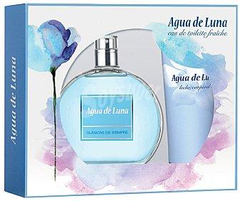 Agua de Luna Estuche regalo para mujer con colonia de 100 mililitros y loción corporal de 75 mililitros 1 unidad