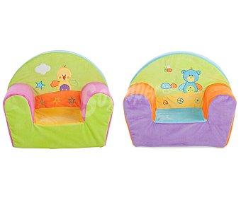 Preescolar Sillón infantil bordado, 44x34x53 centímetros, preescolar