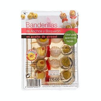 Hacendado Banderillas de anchoas y boquerones Paquete 95 g