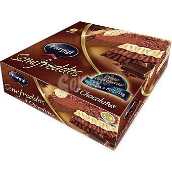 FARGGI SEMIFREDDOS Tarta helada 3 chocolates 6-9 porciones Estuche 750 ml