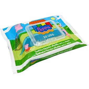 Brevia Toallitas húmedas infantiles Peppa para cara y manos paquete 20 unidades Paquete 20 unidades