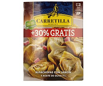 Carretilla Estilo casero alcachofas con jamón Estuche 200 g